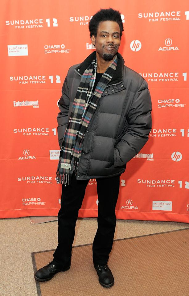 """PARK CITY, UT - JANUARY 23:  Actor Chris Rock attends the """"2 Days In New York"""" premiere during the 2012 Sundance Film Festival held at Eccles Center Theatre on January 23, 2012 in Park City, Utah.  (Photo by Jemal Countess/Getty Images)"""