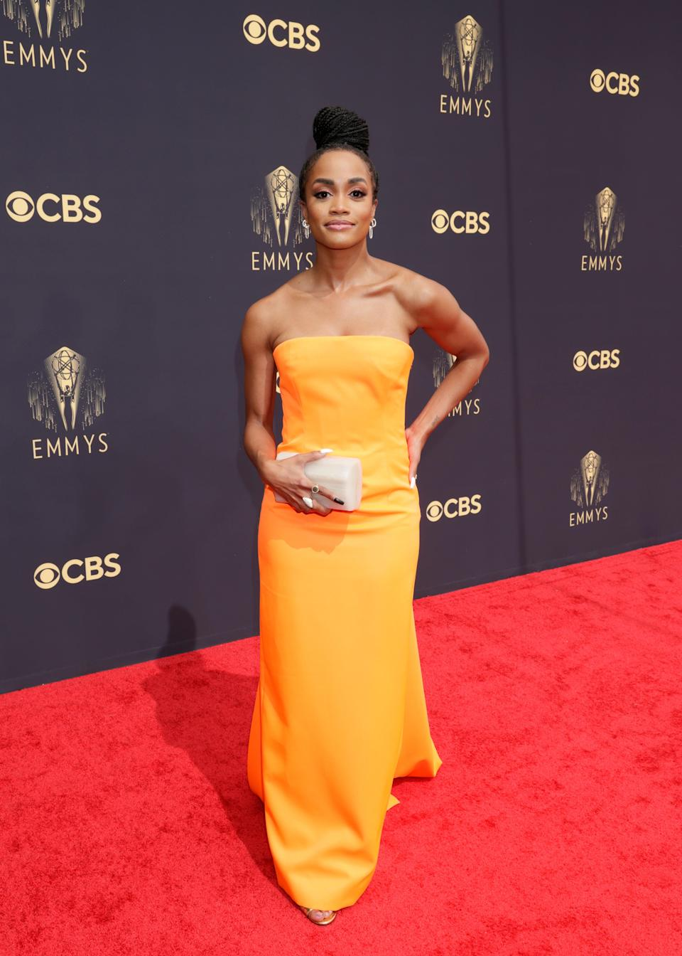 """Rachel Lindsay in Christopher John Rogers<span class=""""copyright"""">Getty Images</span>"""