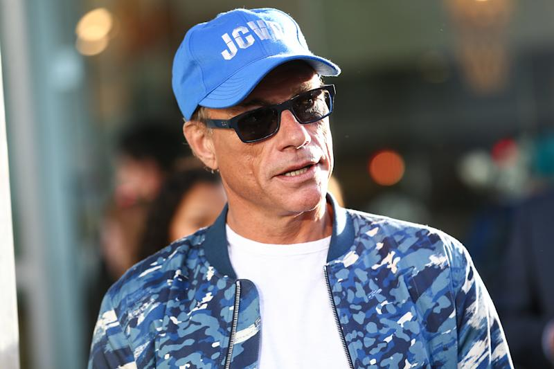 Jean-Claude Van Damme has come to a pup's rescue. (Photo: John Salangsang/Invision/AP)