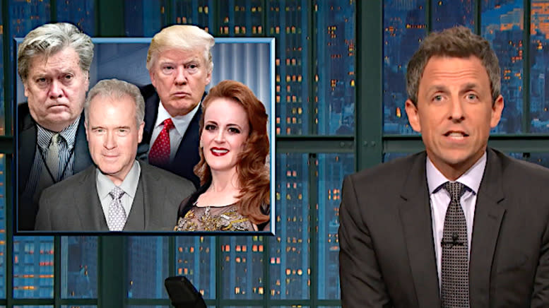 Seth Meyers Breaks Down How 'Puppet' Trump Is Indebted To Billionaire Donors