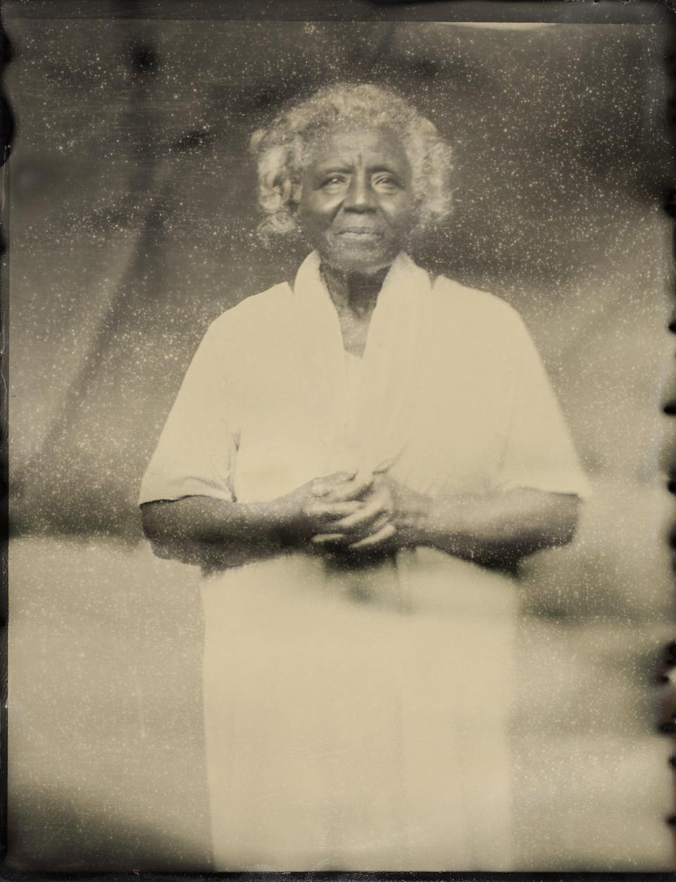 Peggy Mills Warner, great-great-great-great-great-great grandaughter of Betty Toler, a founding settler of Eagle Township in the Gist settlement, founded by formerly enslaved people from the Gist plantation in Virginia.