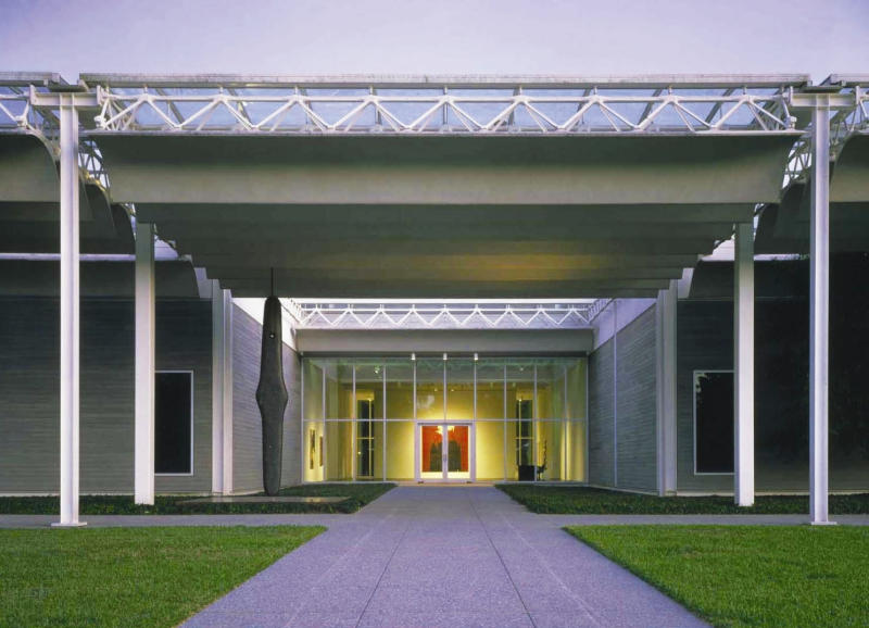 This undated photo released by the Greater Houston Convention and Visitors Bureau, shows the exterior of the Menil Collection, a collection of nearly 16,000 art objects from ancient works to modern masterpieces. The museum is one of Houston's best free attractions. (AP Photo/Greater Houston Convention and Visitors Bureau)