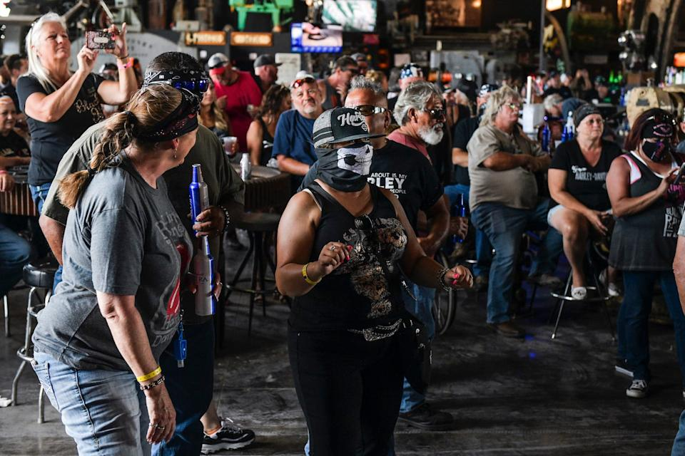 A concert at the Full Throttle Saloon during the 80th annual Sturgis Motorcycle Rally on August 9.