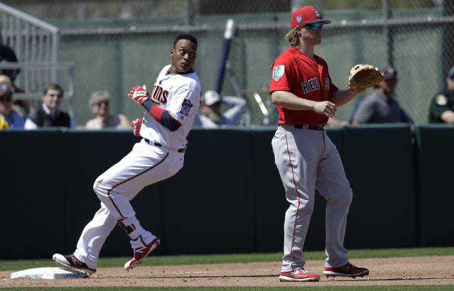 Jorge Polanco is back in Minnesota, here to help (AP Photo/Chris O'Meara)
