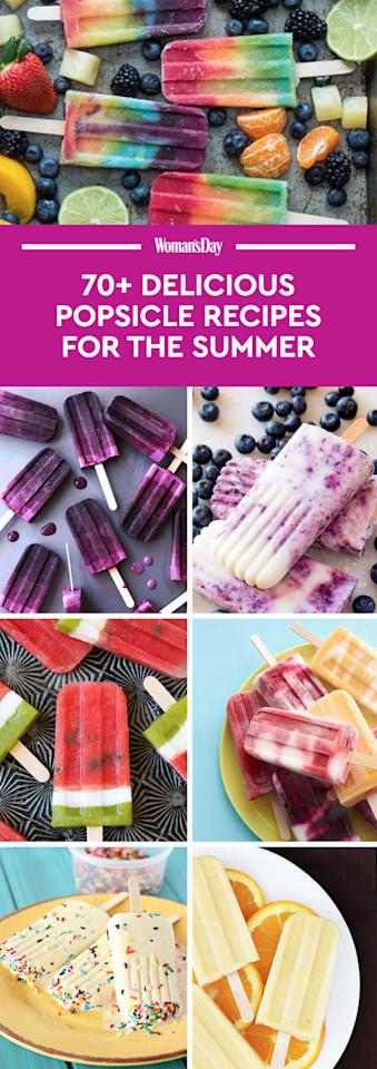 """<p>Save these summer popsicle recipesfor later by pinning this image, and follow<i>Woman's Day</i>on<a rel=""""nofollow"""" href=""""https://www.pinterest.com/womansday/"""">Pinterest</a>for more.<span></span></p>"""