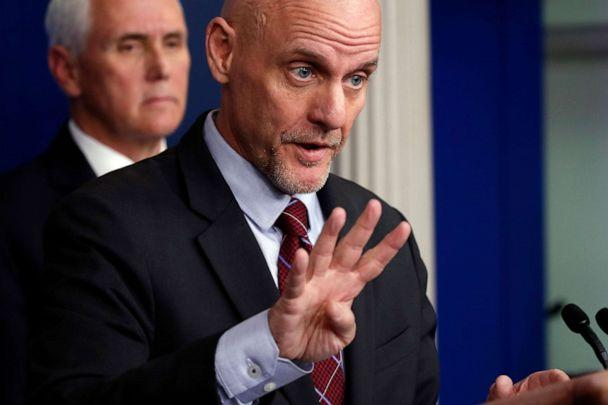 PHOTO: Stephen Hahn, commissioner of the U.S. Food and Drug Administration, speaks about the coronavirus in the James Brady Press Briefing Room of the White House, April 24, 2020, in Washington. (Alex Brandon/AP)