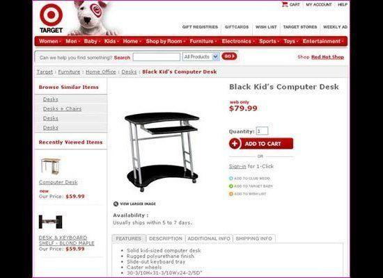 """""""Kid's Desk In Black"""" would have been a better way to put it, no? (via <a href=""""http://www.11points.com/Misc/11_Accidentally_Racist_Product_and_Company_Names"""" target=""""_hplink"""">11 Points</a>)"""