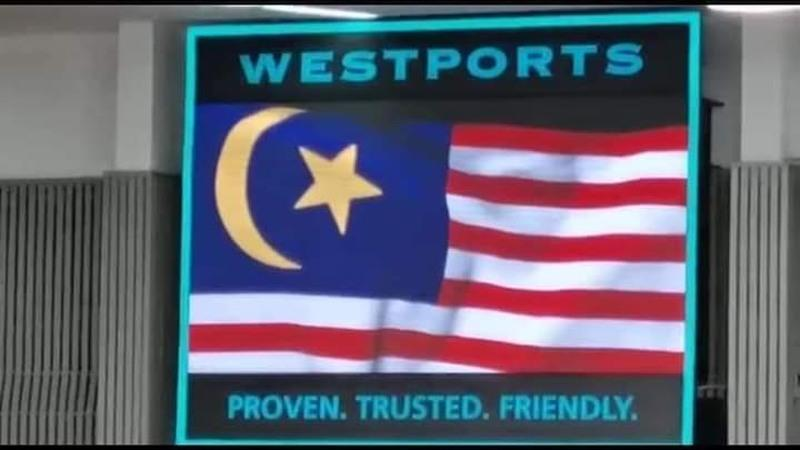 A screen capture of the faulty Malaysian flag that is being shared on social media.