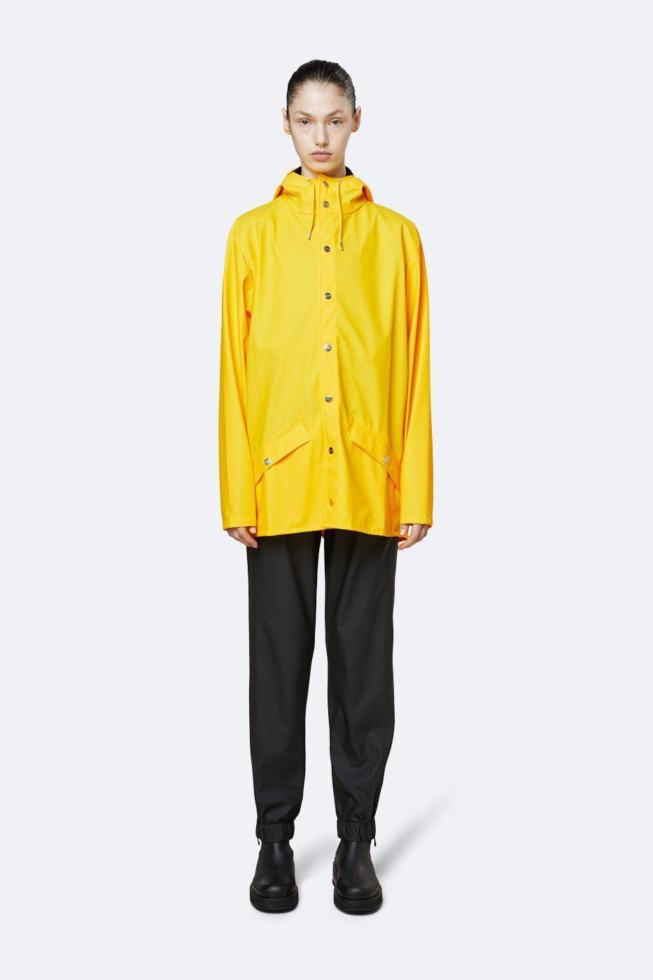 """<p><strong>Rains</strong></p><p>rains.com</p><p><strong>$110.00</strong></p><p><a href=""""https://go.redirectingat.com?id=74968X1596630&url=https%3A%2F%2Fwww.us.rains.com%2Fproducts%2Fjacket-female%3Fvariant%3D1372003598359&sref=https%3A%2F%2Fwww.cosmopolitan.com%2Fstyle-beauty%2Ffashion%2Fg33523619%2Fbest-raincoats%2F"""" rel=""""nofollow noopener"""" target=""""_blank"""" data-ylk=""""slk:Shop Now"""" class=""""link rapid-noclick-resp"""">Shop Now</a></p><p>If you're like me and have always wanted a bright yellow style, opt for one from Rains. It has a casual silhouette with handy pockets and a high neck in case it's really coming down hard. </p>"""