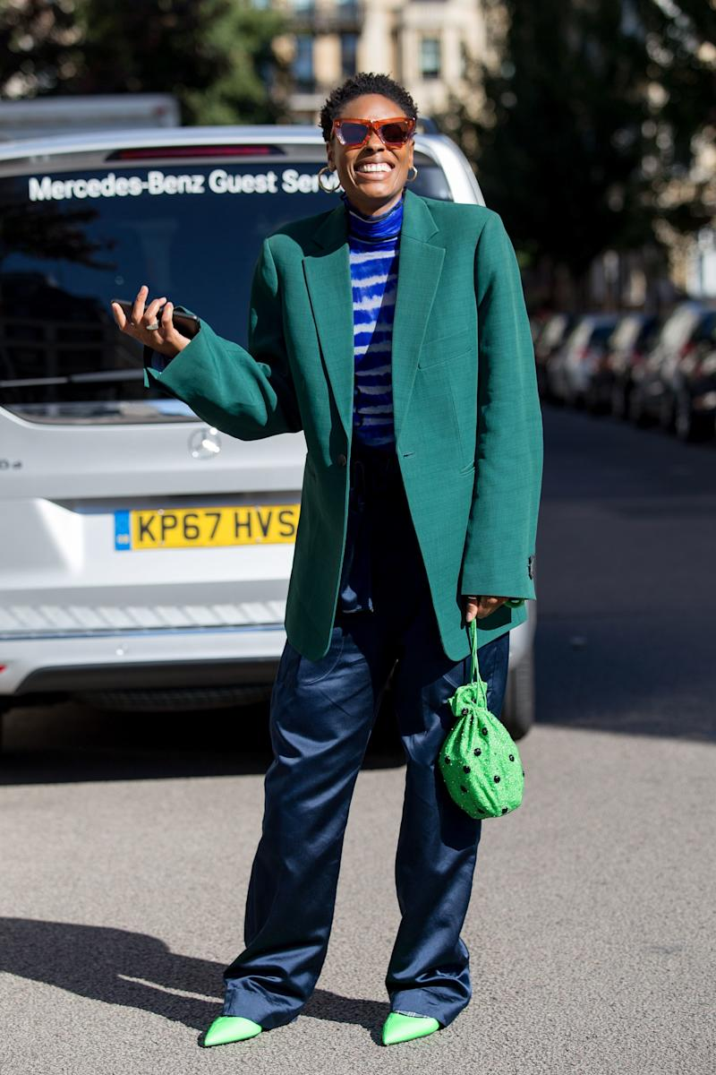 a653063401 Street Style, Spring Summer 2019, London Fashion Week, UK - 16 Sep 2018
