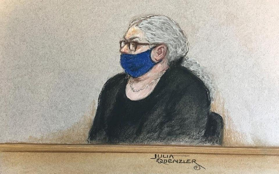 Lulu Lakatos sits in the dock at Southwark Crown Court - Julia Quenzler / SWNS