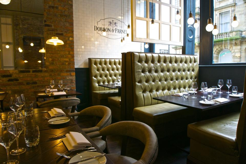 The chic dining area at Dobson and Parnell. [Photo: Dobson and Parnell]
