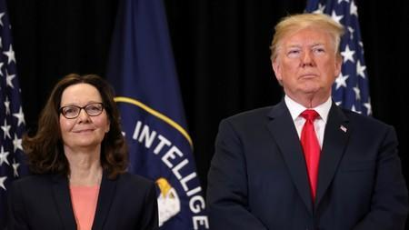 FILE PHOTO: Trump attends CIA swearing-in of Gina Haspel in Langley