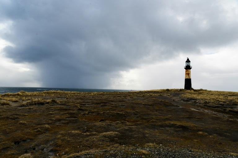View of the Cape Pembroke Lighthouse, in Port Stanley, Falkland Islands, a remote archipelago 8,000 miles from mainland Britain that could nonetheless find its economy threatened by Brexit (AFP Photo/Pablo PORCIUNCULA BRUNE)
