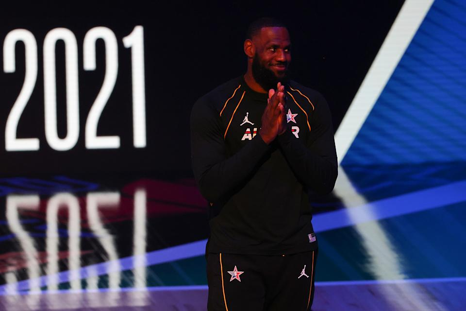 LeBron James at all-star weekend.