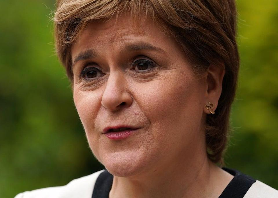 """The cooperation agreement with the Greens means there is an """"undeniable"""" mandate for another Scottish independence referendum, Nicola Sturgeon insisted (Andrew Milligan/PA)"""