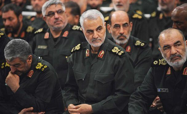 PHOTO: Iranian Major General Qassem Soleimani, center, attends at meeting with Iranian supreme leader Ayatollah Ali Khamenei's and the Islamic Revolution Guards Corps (IRGC) in Tehran, Iran on Sept. 18, 2016. (Press Office of Iranian Supreme Leader via Getty Images, FILE)