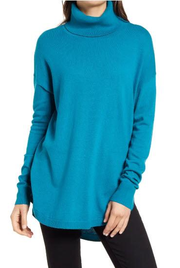 Chelsea28- Turtleneck Sweater, $41 (originally $69)