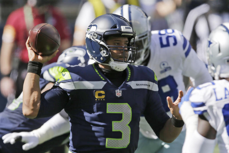 Seahawks quarterback Russell Wilson sets NFL passing touchdown record