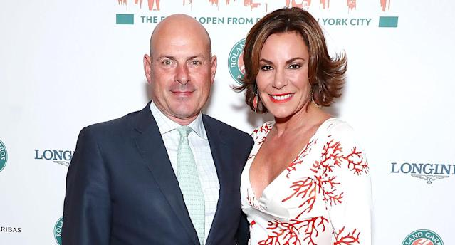 Tom D'Agostino Jr. and Luann D'Agostino on June 8, 2017 in New York City. (Photo: Astrid Stawiarz/Getty Images)