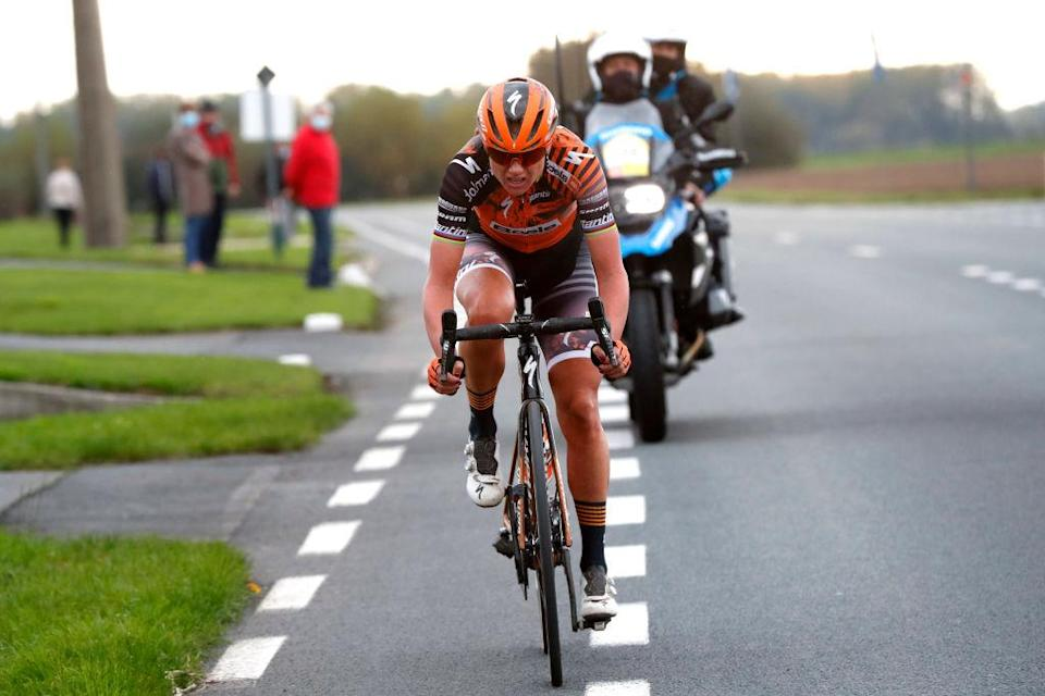 OUDENAARDE BELGIUM  OCTOBER 18 Chantal Van Den Broek  Blaak of The Netherlands and Boels Dolmans Cycling Team  during the 17th Tour of Flanders 2020  Ronde van Vlaanderen  Women Elite a 1356km stage from Oudenaarde to Oudenaarde  RVV20  FlandersClassic  on October 18 2020 in Oudenaarde Belgium Photo by Bas CzerwinskiGetty Images