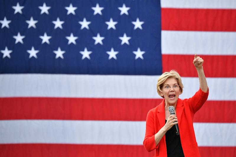 Democratic presidential candidate Elizabeth Warren has made reducing the student loan burden a key part of her campaign (AFP Photo/MANDEL NGAN)