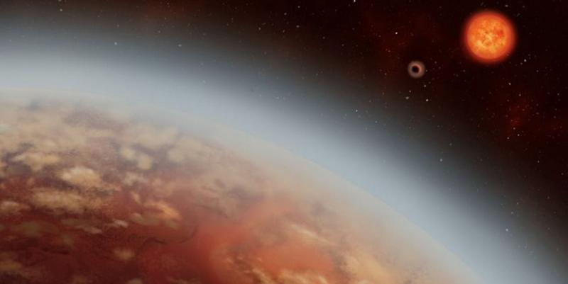 Artist rendition of the K2-18b super earth planet. Image credit: Alex Boersma