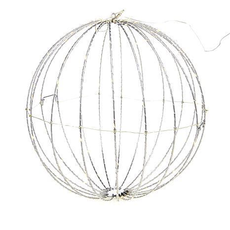Winter Lane collapsible lighted sphere with timer. (Photo: HSN)