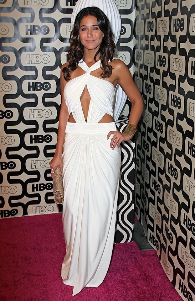 Emmanuelle Chriqui attends HBO's Official Golden Globe Awards After Party held at Circa 55 Restaurant at The Beverly Hilton Hotel on January 13, 2013 in Beverly Hills, California.