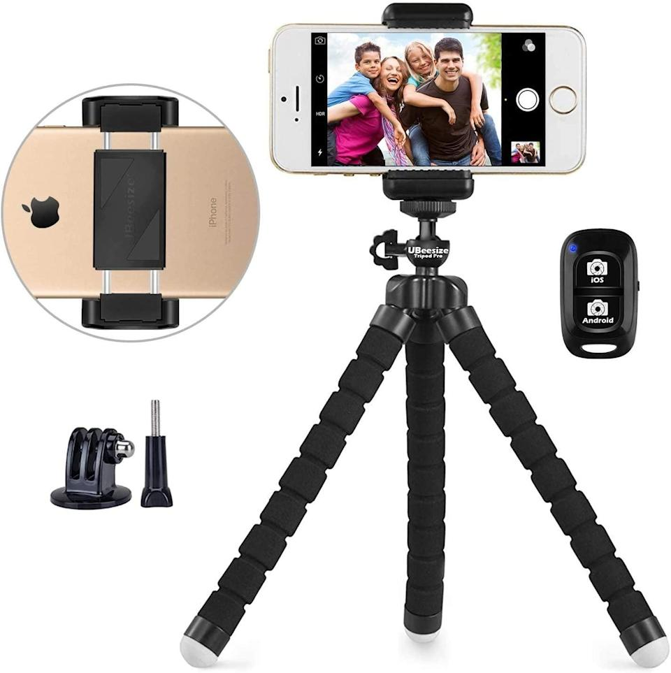 <p>This <span>UBeesize Portable and Adjustable Phone Tripod </span> ($18) will level up their content creation game. They won't have to lean and balance their phone on random objects around the house. Plus, it's portable so they can cerate wherever they want! It comes with a wireless remote for a total hands-free experienece. </p>