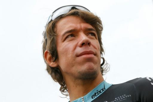 Colombia's Rigobert Uran, pictured in May 2015, extended his contract with American cycling team Cannondale for three years, saying that the team environment allows him to focus on his ultimate goal of winning the Tour de France
