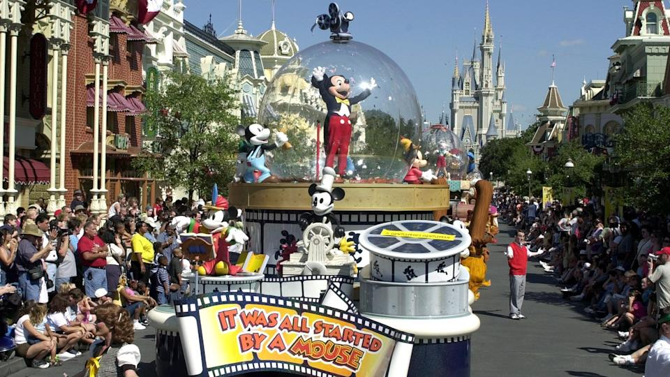 Disney World celebration with Mickey Mouse