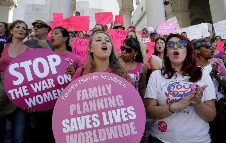 Planned Parenthood supporters rally for women's access to reproductive health care on