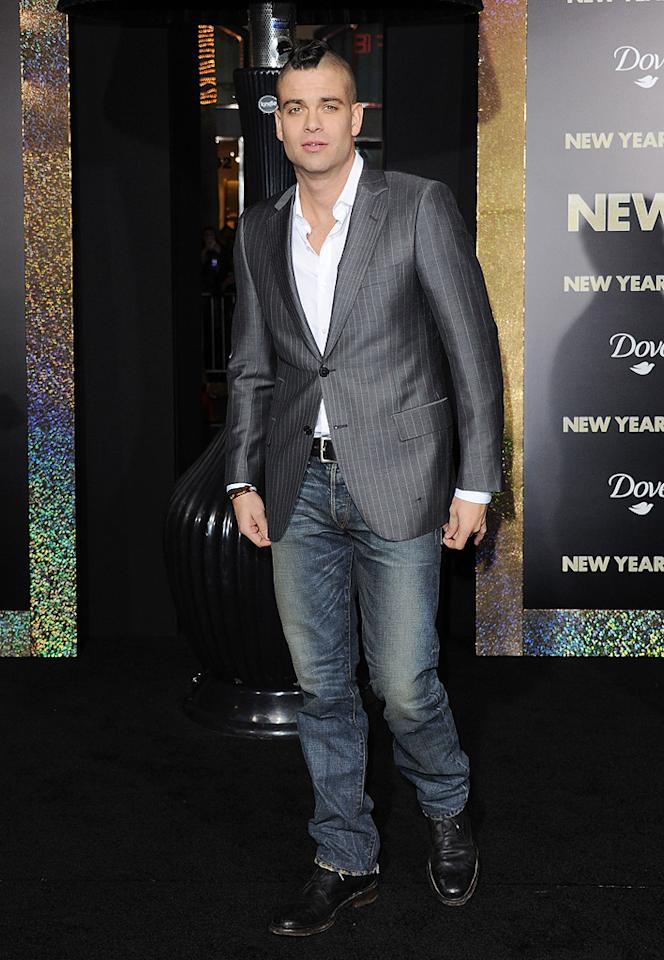 """<a href=""""http://movies.yahoo.com/movie/contributor/1810220513"""">Mark Salling</a> at the Los Angeles premiere of <a href=""""http://movies.yahoo.com/movie/1810219047/info"""">New Year's Eve</a> on December 5, 2011."""