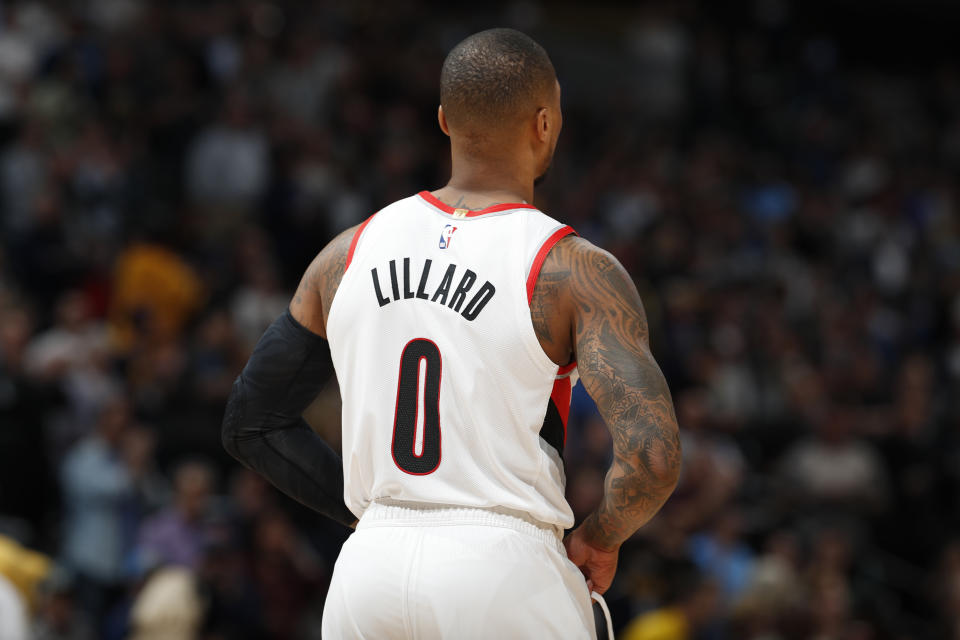 Damian Lillard.(AP Photo/David Zalubowski)