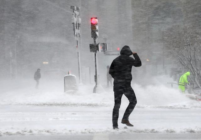 Wednesday's Nor'easter appeared to have caught Villanova by surprise. (Getty)