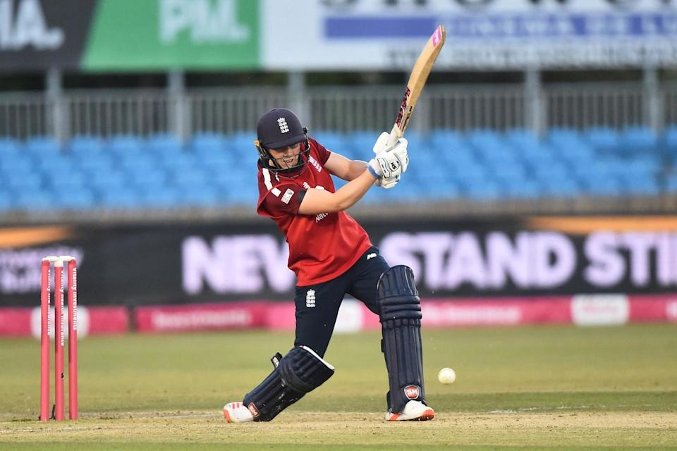 Captain Heather Knight struck 42 to help the hosts recover from 45-3 to end up on 166-6 (Getty Images)