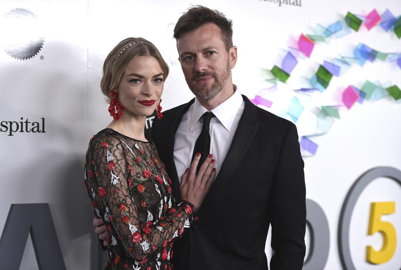 Jaime King and Kyle Newman arrive at the Kaleidoscope 5: LIGHT event on Saturday, May 6, 2017 in Culver City, Calif. (Photo by Jordan Strauss/Invision/AP)
