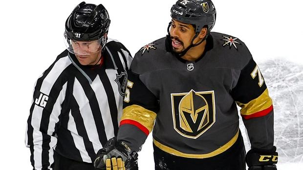 Golden Knights' Ryan Reaves to have hearing for check to the head of Canucks' Motte