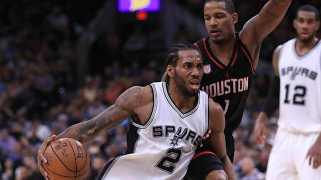 Kawhi Leonard is questionable for the San Antonio Spurs' game six against the Houston Rockets.