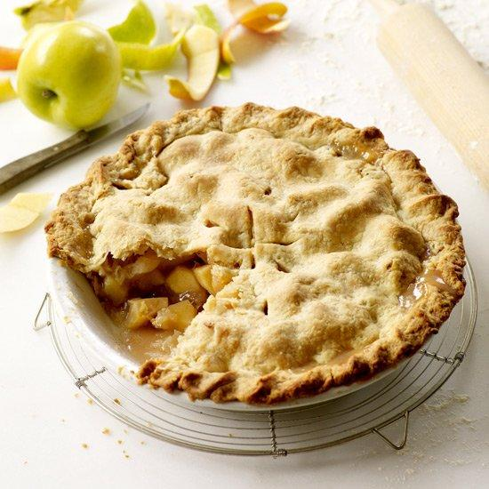 """<p>The most famous of the traditionally double crust pies, apple pie can be topped with a lattice design or a complete pastry cover. It's the ultimate American comfort food, can be made using several kinds of apples and is perfect <em>a la mode</em>. Grace Parisi uses a mix of Granny Smith, Pink Lady and Golden Delicious apples for this iconic dessert.</p> <p><strong>See more: <a href=""""https://www.foodandwine.com/slideshows/apple-pie"""" target=""""_blank"""">Apple Pie Recipes</a></strong></p> <p> <a href=""""https://www.foodandwine.com/recipes/double-crust-apple-pie"""">Get the recipe</a></p>"""