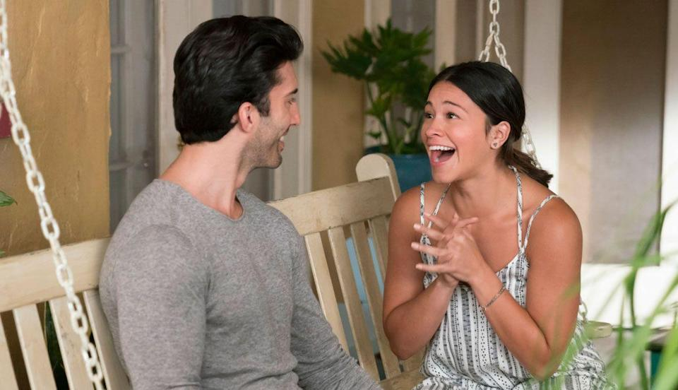 """<p>An accidental artificial insemination, a drug kingpin, and family drama? Yes, <a href=""""https://www.oprahdaily.com/entertainment/tv-movies/a23281777/jane-the-virgin-season-5/"""" rel=""""nofollow noopener"""" target=""""_blank"""" data-ylk=""""slk:CW's telenovela"""" class=""""link rapid-noclick-resp"""">CW's telenovela</a> is as over the top as it sounds. But it works, mainly because of Gina Rodriguez, who plays the titular character. The name of the show tells you everything you need to know: Jane decides to remain a virgin until marriage, but after a mishap at a clinic, she ends up pregnant. But that's not even the zaniest part: The sperm donor is her boss. It's a charming show filled with diverse characters.</p><p><a class=""""link rapid-noclick-resp"""" href=""""https://www.netflix.com/search?q=jane+the+virgin&jbv=80027158&jbp=0&jbr=0"""" rel=""""nofollow noopener"""" target=""""_blank"""" data-ylk=""""slk:Watch Now"""">Watch Now</a></p>"""