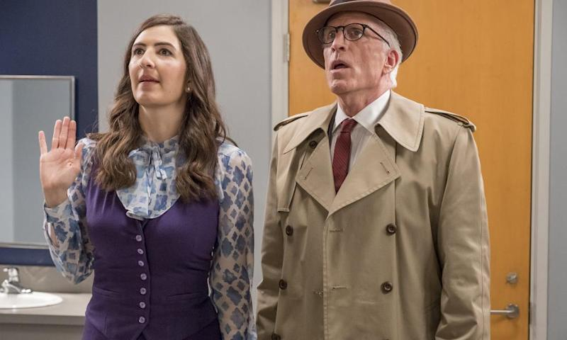 D'Arcy Carden as Janet and Ted Danson as Michael.