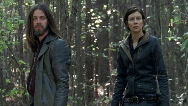 Tom Payne as Jesus and Lauren Cohan as Maggie in 'The Walking Dead' (Photo: AMC)