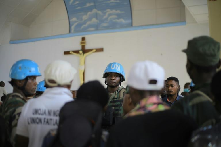 Peacekeepers of The United Nations Organization Stabilization Mission in the Democratic Republic of the Congo MONUSCO operate in the region