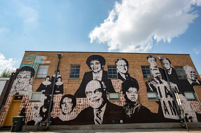 Former Bishop Carroll T. Dozier has been removed from the Upstanders mural in Memphis, Tenn., and been painted over, replaced by Jose Guerrero, a founder of Latino Memphis.