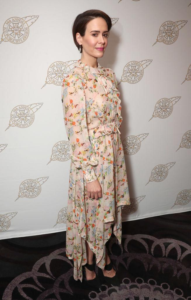 <p>Sarah Paulson at the International Cinematographers Guild Publicists Awards (Photo: Getty Images) </p>