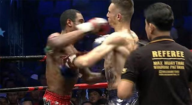 Dorian Price and Jonathan Lecat both recorded a knockdown, but Price wound up winning the fight. (YouTube)