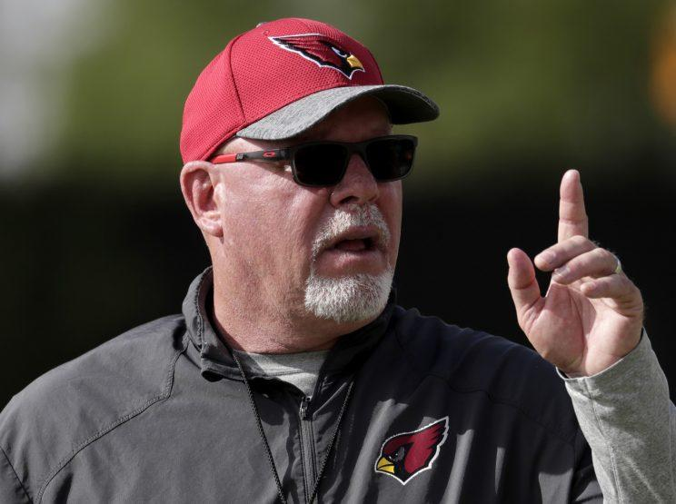 Bruce Arians revealed in his new book he was diagnosed with cancer last year. (AP)