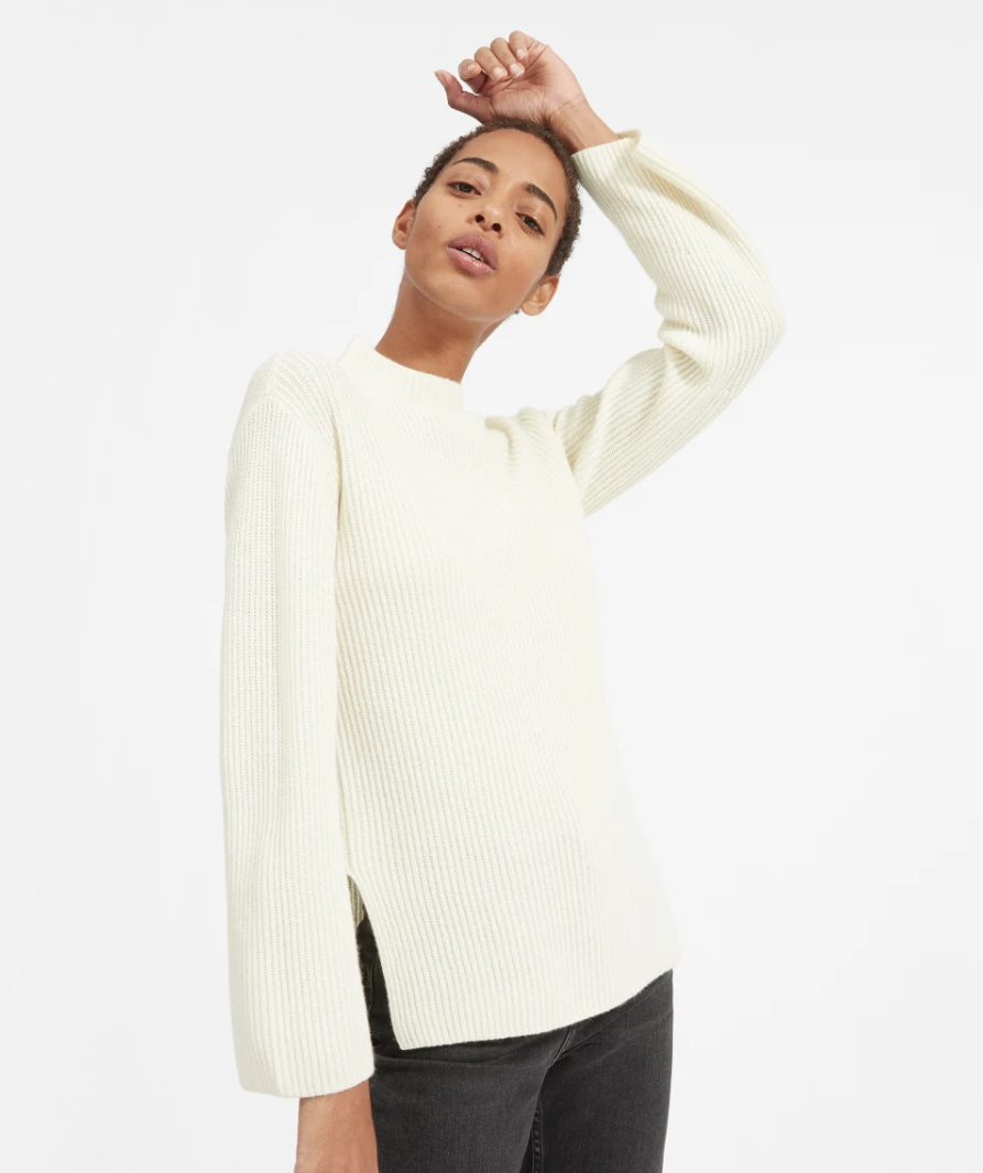 Who knew a simple cashmere sweater could look so stylish? (Photo: Everlane)